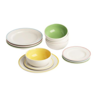 Plate/bowl set from Ikea