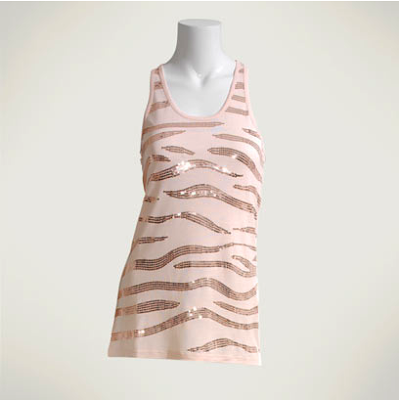 Tiger embellished tank by Reiss