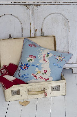 Map cushion by Jan Constatine