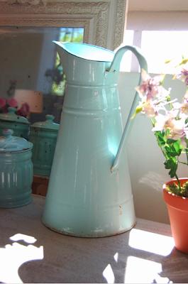 Vintage enamel jug