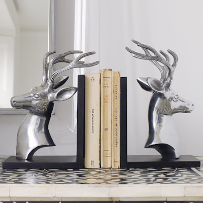 Stag book ends by Graham & Green