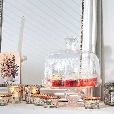 Etched glass cake stand from Graham & Green