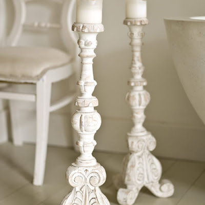 Wooden carved candlestick from Cox & Cox