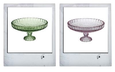 Pressed glass cake stands from Amazon