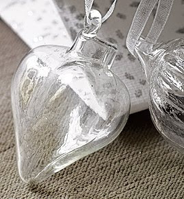 Mini Heart Baubles by The White Company