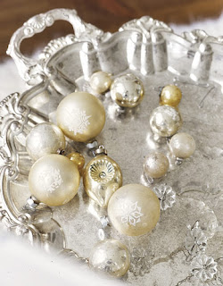 Metallic vintage ornaments by Country Living