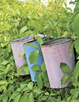 Tea party buckets by Country Living