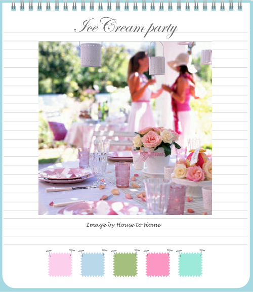 Ice cream party mood board by Torie Jayne