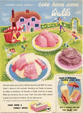 Walls ice cream, Happy Family, 1950s