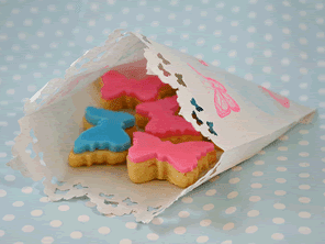 Butterfly sugar cookies by Torie Jayne