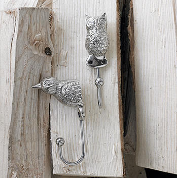 Owl & bird hooks by Plumo