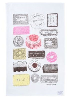 Family favourites tea towel by Charlotte Farmer