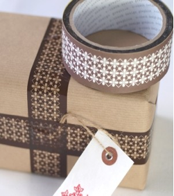 Flower parcel tape by Drift Living