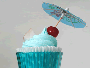 Gluten-free blue hawaii cupcakes by Torie Jayne