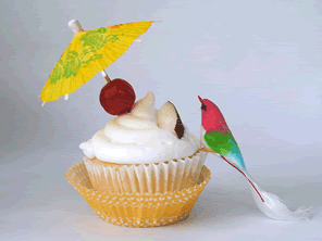 Gluten-free pina colada cupcakes by Torie Jayne