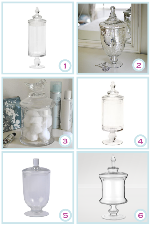 Apothecary jars aka candy jars by Torie Jayne