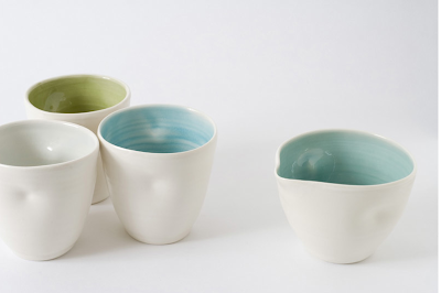 Bowl and cups by Linda Bloomfield