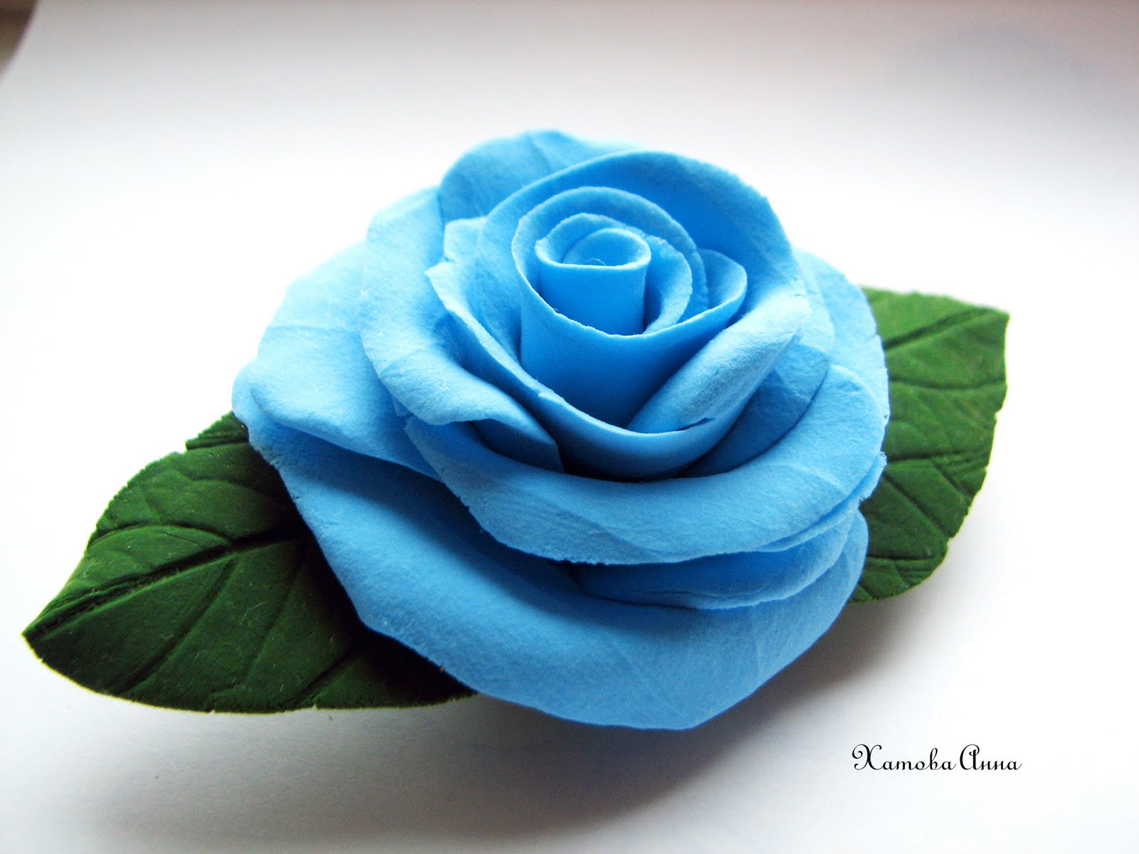 Голубая роза бисер