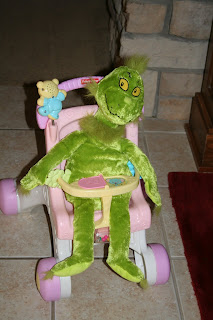 Harper has replaced her baby doll with a newer greener version for the