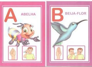 a 6 modelos de alfabeto em Libras: 1 é só copiar e 5 para DOWLOAD. para crianças