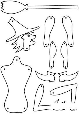 Atividades para o dia das bruxas e lembrancinhas. para crianças