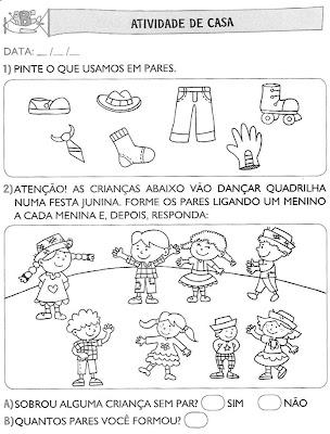 Atividades+para+Casa+(62) Atividades de matemática. para crianças