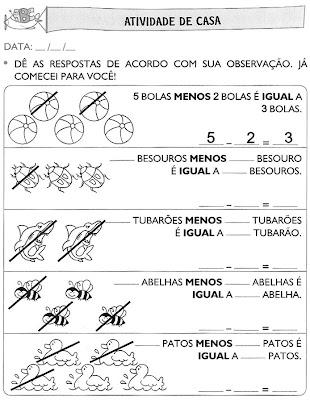 Atividades+para+Casa+(59) Atividades de matemática. para crianças