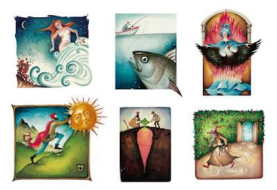 naptár illusztráció festmény fiú lány állatok calendar illustration painting girl boy animal