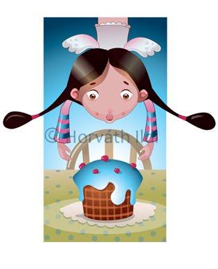 gyerekeknek vicces illusztráció children funny illustration
