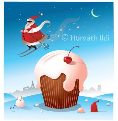 karácsonyi vicces grafika christmas comic illustration