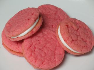 ... strawberry cream sandwich cookies and choco cream sandwich cookies