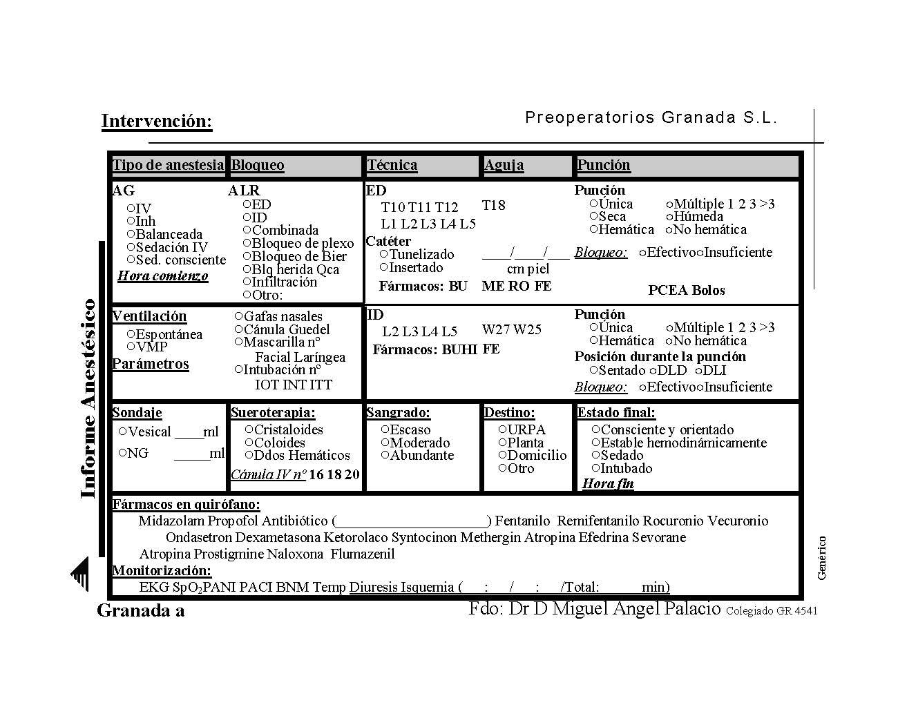 Miguel Ángel Palacio/Médico anestesíólogo: Más papeles: Plantillas ...