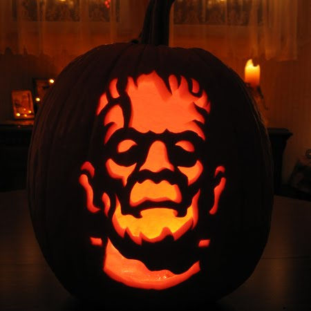 frankenstein pumpkin Cool Halloween Pumpkin Jack O Lanterns Designs Pictures Seen on www.VyperLook.com