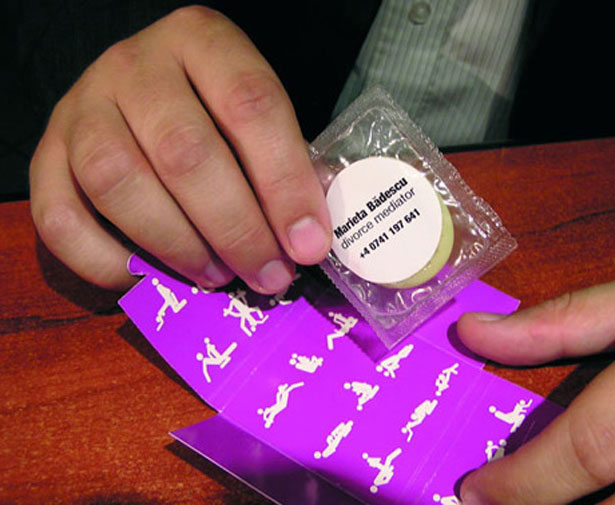condom business cards