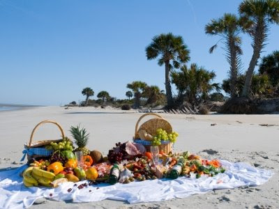 beach picnic