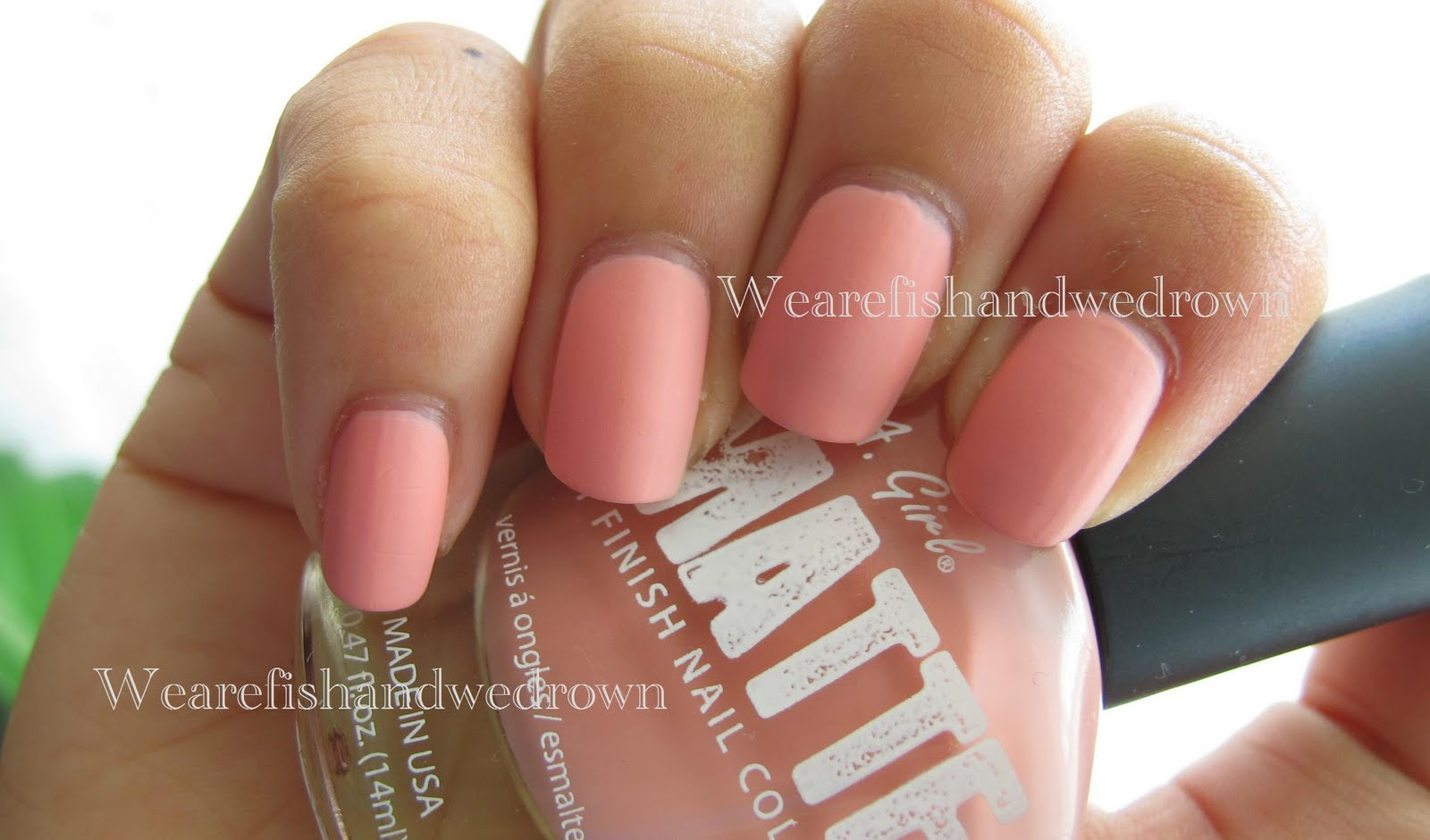 We are Fish: LA Girl Matte Baby Pink