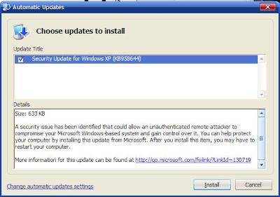 Microsoft Security Bulletin MS08-067 – Critical