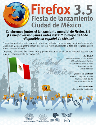 firefox 3.5 launch in Mexico city