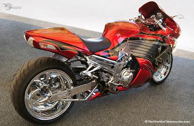 Kawasaki ZX 14 Red Clear Full Chromed Motosport