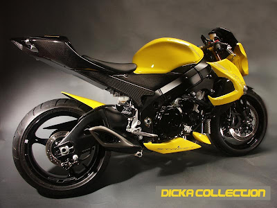 Suzuki GSXR 1000 Yellow Extreme Topgun Street Fighter 4