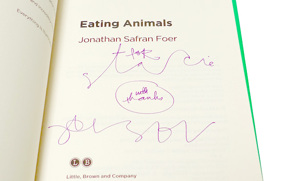 you are what you eat by jonathan safran foer Eating animals is the third book by the american novelist jonathan safran foer,  published in  when people eat meat, foer claims, they are implying that  satisfying their desire for meat is more important than letting animals live well, or  even.