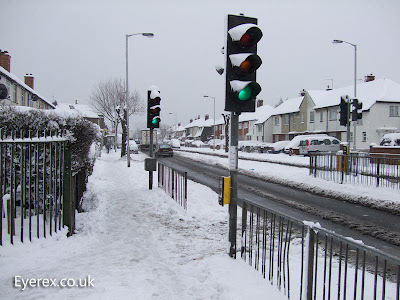 Croydon london traffic snow