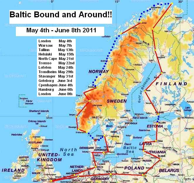 Batic Bound and Around Route