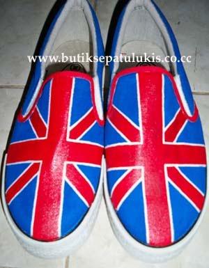 Butik Sepatu Lukis: sepatu lukis bendera inggris