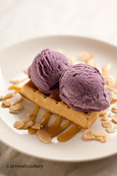Es Krim Ubi Ungu (Purple Sweet Potato Ice Cream)