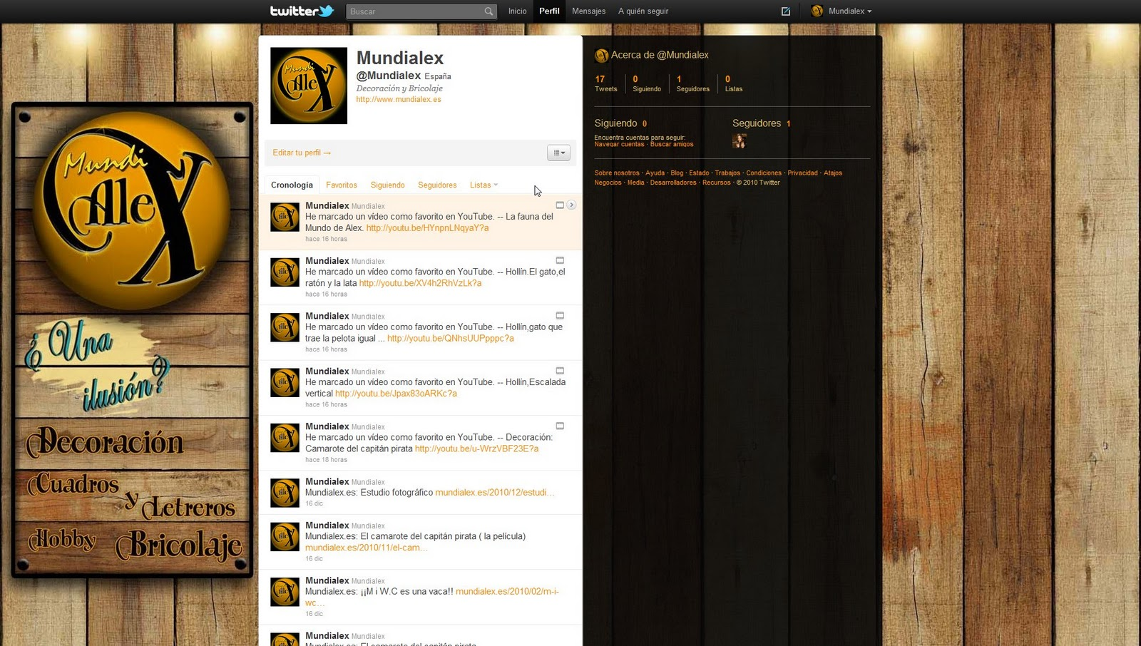 Mundialex bricolaje y decoraci n mundialex en youtube facebook y twitter - Bricolaje y decoracion ...