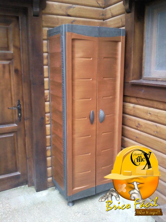 Mundialex bricolaje y decoraci n pintar armario de - Armarios plastico exterior ...