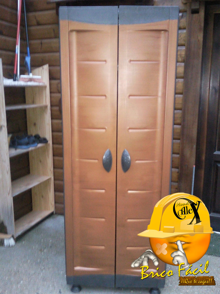 Mundialex bricolaje y decoraci n pintar armario de - Muebles de resina para exterior ...