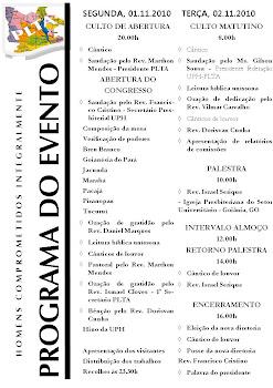 III - CONGRESSO DA FEDERAÇÃO DE UPHs DO PLTA.