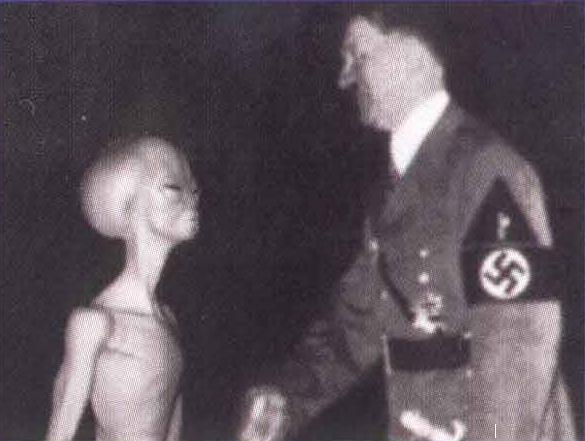 Hitler with Alien